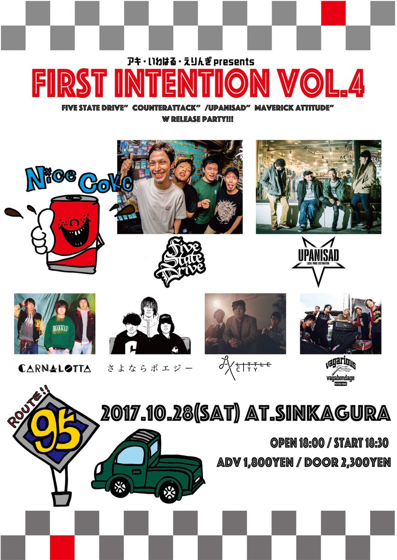 """4th Demo """"COUNTERATTACK"""" Release Tour / First Intention vol.4"""